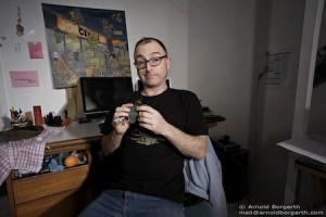 Paul Clayton in the studio