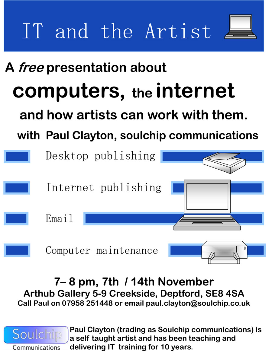 poster for IT and the Artist presentation