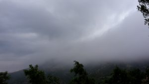 stormy weather on Mount Olympus